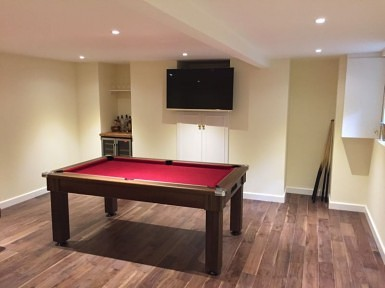 Basement Conversion for Games Room
