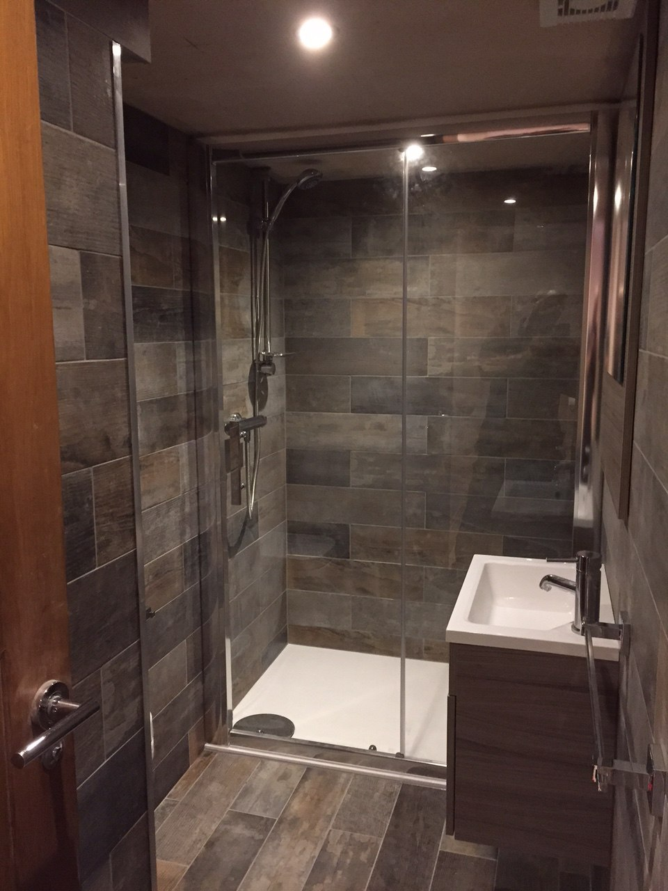 Basement Conversion Added Living Space And Luxury Shower Completed ...