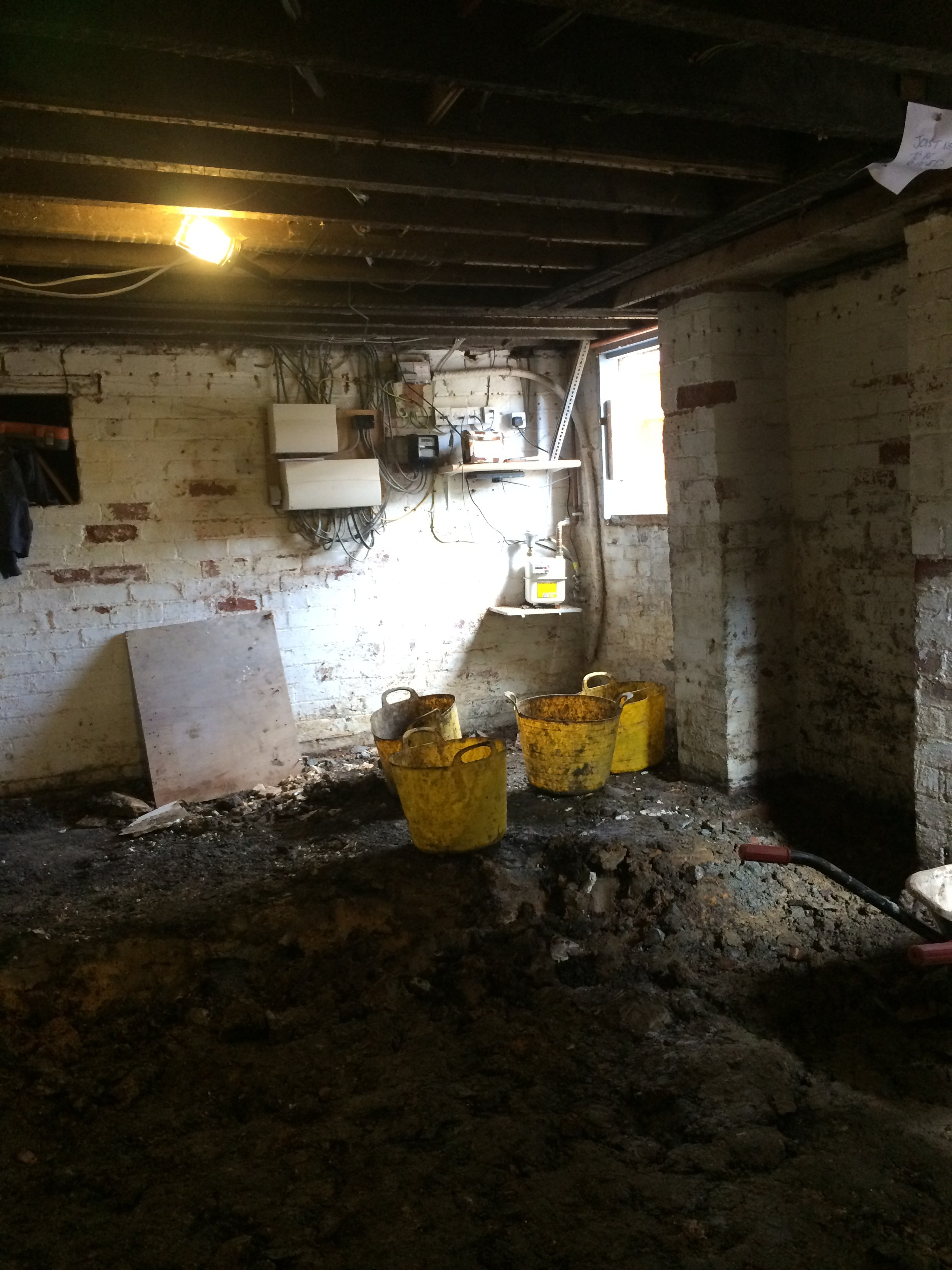 Digging Out A Basement Beautiful Renovating A Year Old