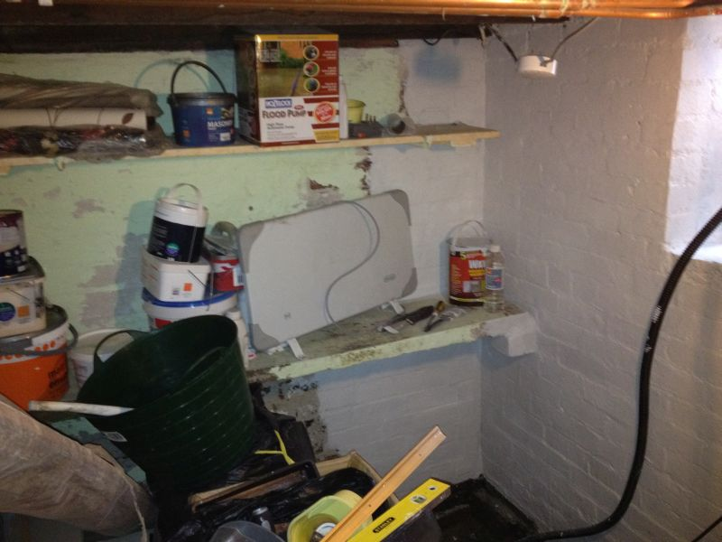 wanted our cellar to become a clean dry store room and pure basements