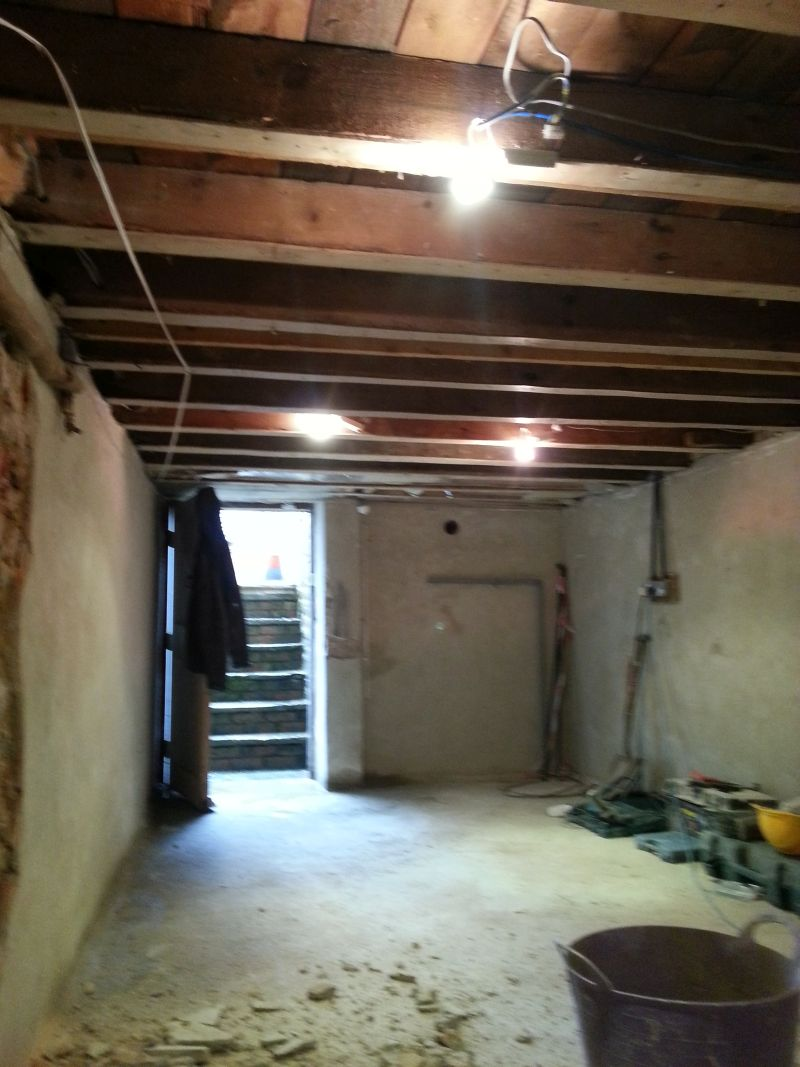 Conversion of a wet basement iin york to dry usable space for Dry basement