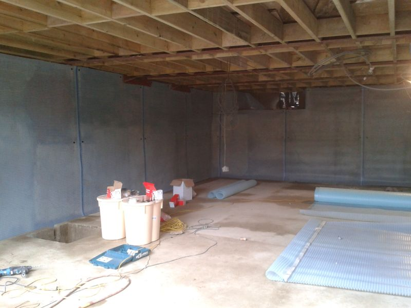 Basement Conversion In London To Home Gym & Multi Media Room