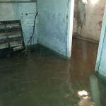 York Basement Conversion - Flooded Cellar To Dry Storage Before