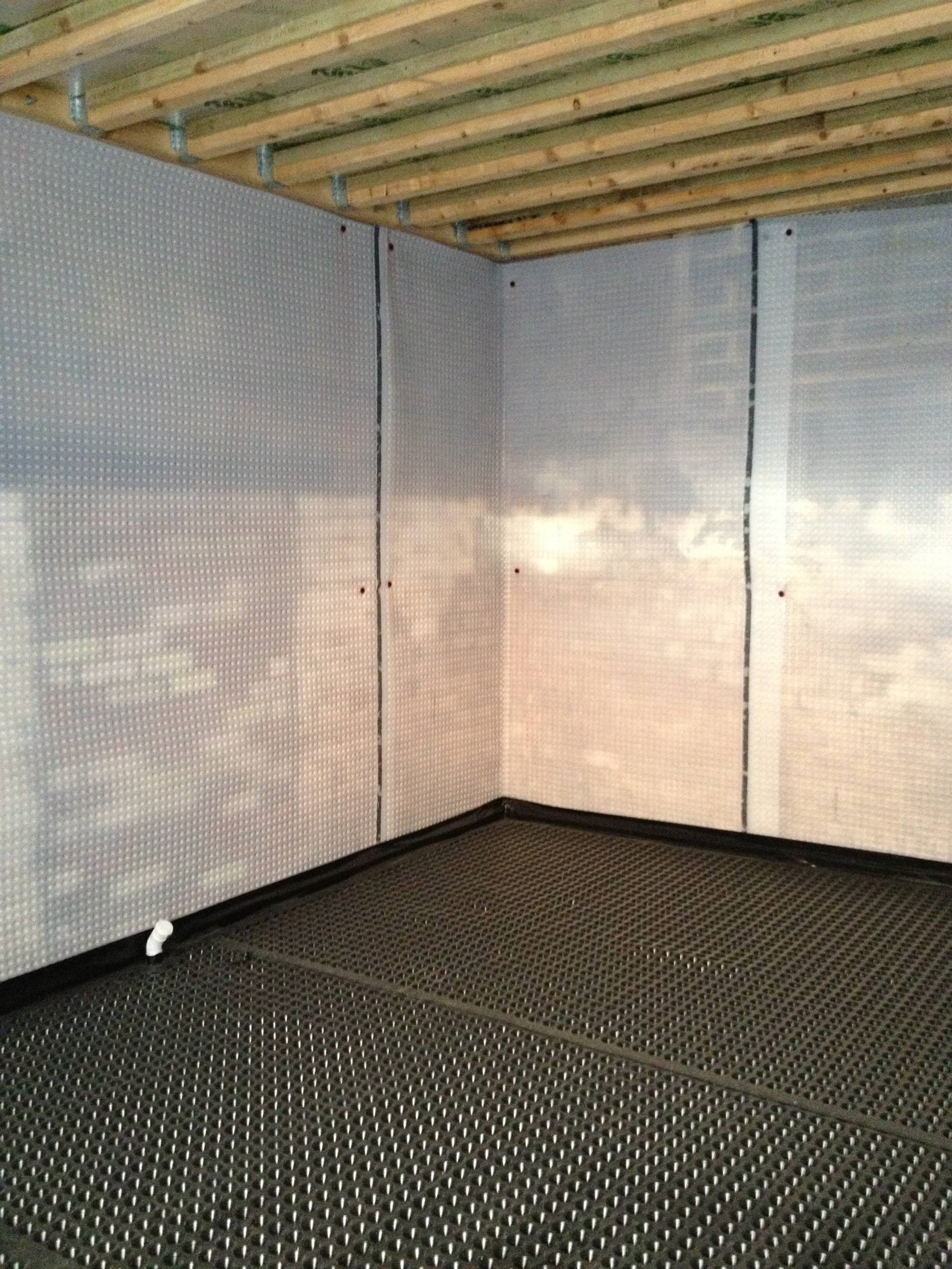 Wall and floor basement tanking membrane & Basement Membranes | Egg-Box Membranes | Dimpled Membranes ...